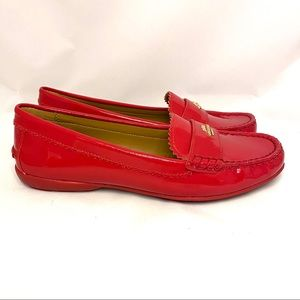COACH Odette Patent Loafers Red 7